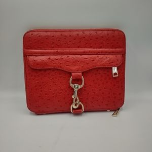 Rebecca Minkoff Fire Red Osteritch Leather iPad Tablet Case